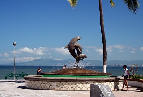 Dolphin Statue - Puerto Vallarta