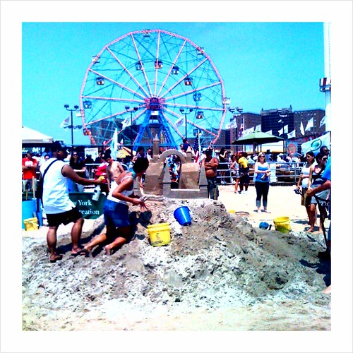 Coney Island sand castle contest