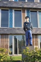 Naaldwijk - Policeman watching the traffic on the roundabout (Quistnix!) Tags: sculpture statue haaglanden westland hdr standbeeld policeman politie bracketing politiebureau naaldwijk politieagent diender