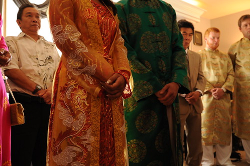 Wedding Tea Ceremony Detail: Ao Dai