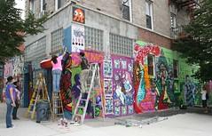 theyounity.com all-female collective making public art (Becki_Fuller) Tags: street nyc urban streetart ny newyork art female brooklyn photography graffiti stencil women mural spaceinvader jazz crew publicart ema shiro collective aiko httptheyounitycom