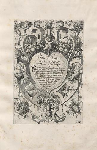 Terra titlepage - Perspectiva Corporum Regularium -  Wenzel Jamnitzer 1568