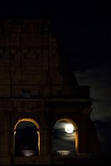 Roman Coliseum by moonlight (Kaeurialias) Tags: italy moon rome roma night ruins italia colosseum coliseum