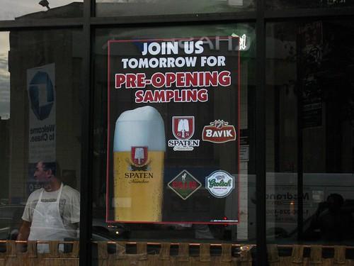 Beer Sampling Sun 8/23
