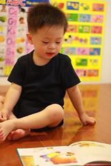 (megan.chung) Tags: boy haircut cute reading   newhairstyle kerwin