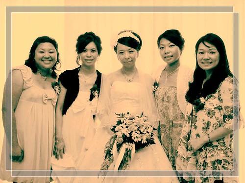 bridesmaids&bride