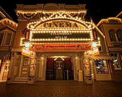 Disneyland - Main Street Cinema (Matt Pasant) Tags: california city vacation holiday kids night canon landscape time personal outdoor disneyland disney mickey mickeymouse orangecounty anaheim waltdisneyworld dlr waltdisney mainstreetusa imagetype photospecs stockcategories canonef1635mmf28liiusm canoneos5dmarkii