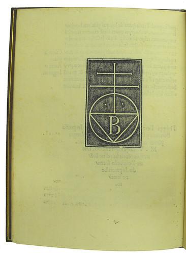 Printer's device in Beroaldus, Philippus: Oratio proverbiorum