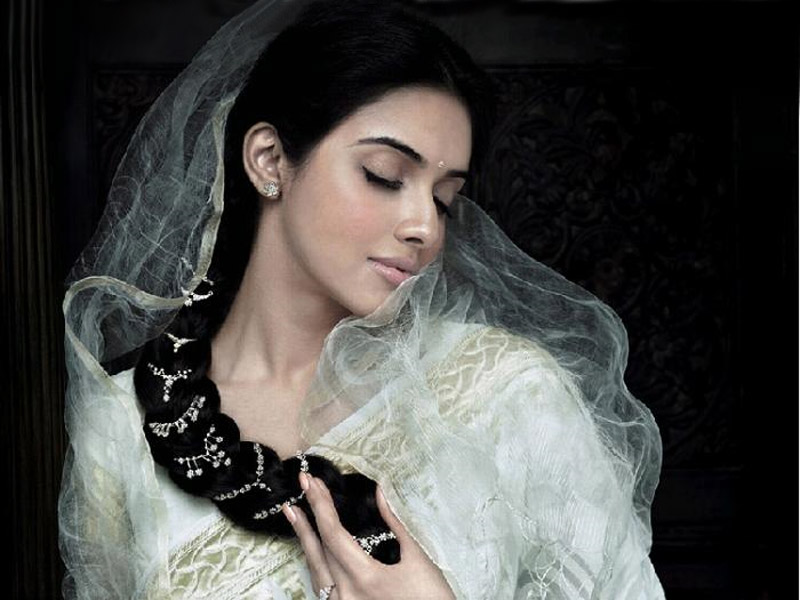 Asin in Saree from London .