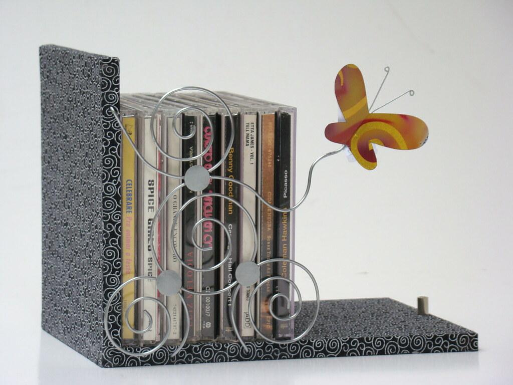 porta cd`s e dvd`s borboleta