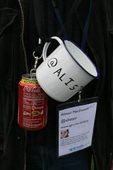 Alistair's Mug Holder (cazphoto.co.uk) Tags: coke mug lanyard bathcamp bathcamp2009