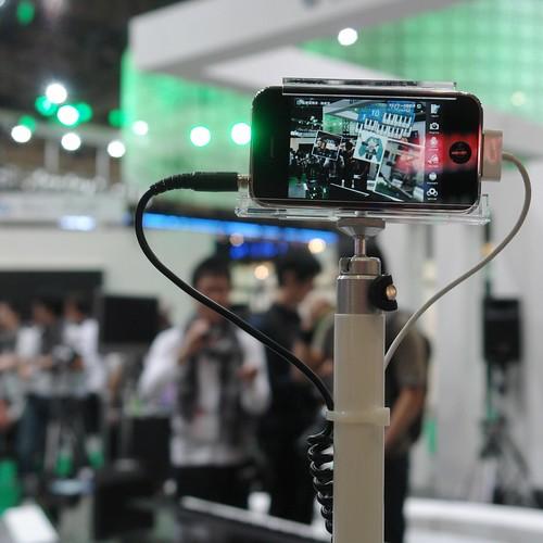 Sekai camera demo on YAMAHA booth