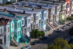 Mini Mission Houses (Automatt) Tags: sanfrancisco houses mini row mission hdr tiltshift 3xp fave10 fave25 gettypick getty710
