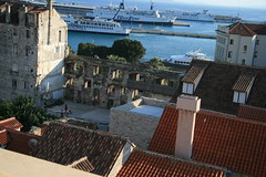 Great View from the Cathedral (Gezlarge) Tags: sea bronze gate view blueline cathedral ships croatia palace split ferries diocletians jadrolinja