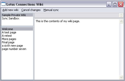 Offline wiki client