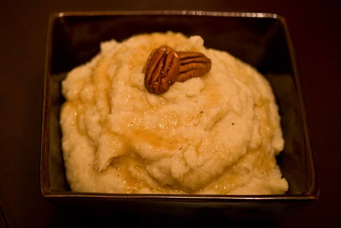 roasted parsnip, onion and apple puree with whisky