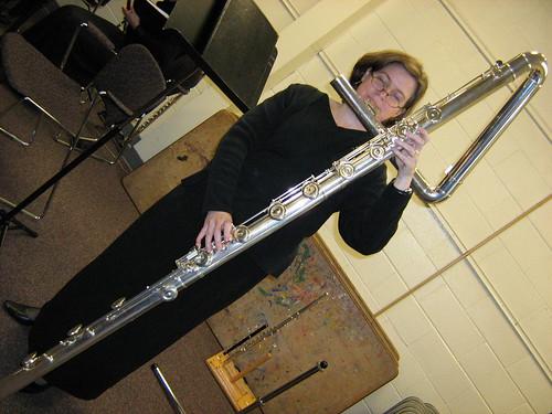 Contrabass flute in the Woodbridge Flute Chorus