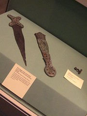 early Celtic iron age artifacts , British Museum. (mikescottnz) Tags: sword celtic design hallstattd