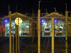 train shed @ night