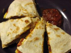 Sausage and Egg Breakfast Quesadilla small