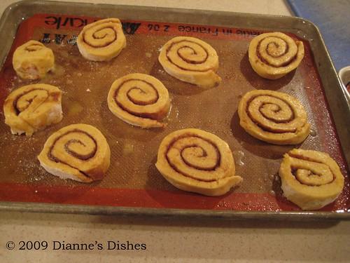 Pumpkin Cinnamon Rolls: Risen