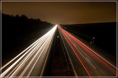Highway to hell(?) (.:AR:.) Tags: night germany landscape bayern deutschland bavaria lights highway nacht autobahn dslr regensburg landschaft hdr lichter highwaytohell spiegelreflex spiegelreflexkamera canoneos450d digitalrebelxsi kissx2