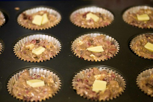 cranberry sauce muffins with white chocolate