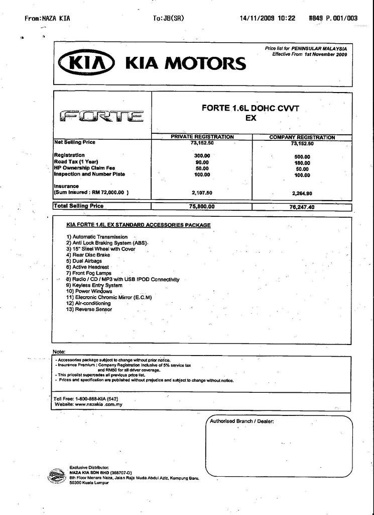 Naza Forte 1.6 EX (RM75,800)