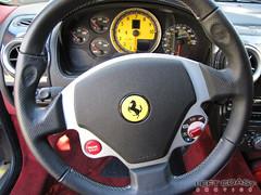 Ferrari F430 Spider Cockpit (Left Coast Classics & Exotics) Tags: auto california car closeup speed spider bordeaux 2006 ferrari exotic luxury f430 leftcoastexotics grigiosilverstone