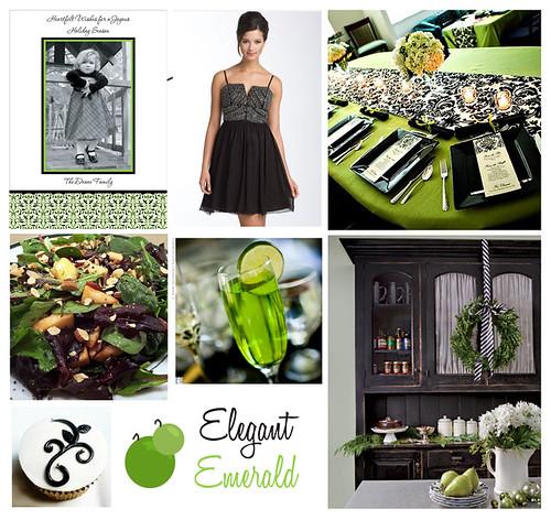 Elegant Emerald Holiday Dinner
