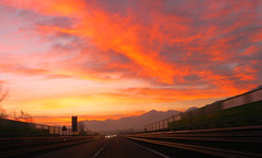 Sunrise_on_the_highway (Valter49 (Sexta-feira s 18:05 avio para Lisboa) Tags: italy clouds sunrise italia nuvole alba country piemonte roads cuneo soe valter platinumheartaward valter49 saariysqualitypictures platinumpeaceaward allegrisinasceosidiventa