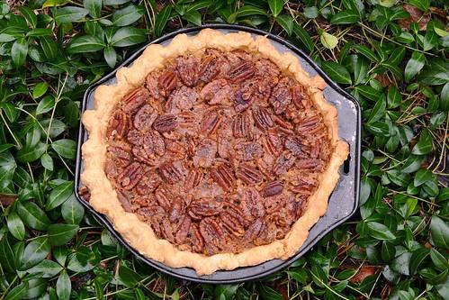 Maple Pecan Pie with Orange Rind