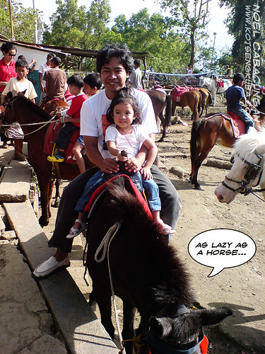 Horseback riding in Tagaytay Picnic Grove