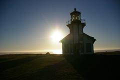 romance (eternalflameserenity(Freebirddbb)) Tags: ocean sea lighthouse color silhouette landscape horizon roadtrip romantic sunrays seashore hwy1 subset