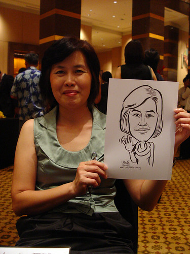 Caricature live sketching for Hitachi Plant Technologies D&D 2009 - 4