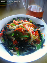 Stir Fried Nakamaki (336) (11) Tags: pepper chinesefood homemade carrot   seaweeds day336  sesames    nakamaki  336365