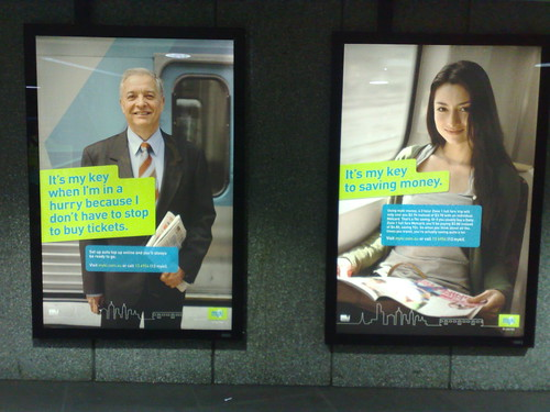 New Myki advertising on stations