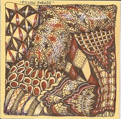 Traded-Pillow Parade (molossus, who says Life Imitates Doodles) Tags: zentangle zendoodle zentangleinspiredart