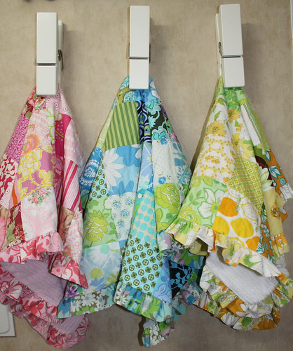 Patchwork baby quilts