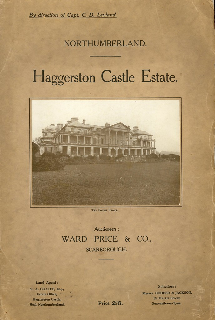 llustrated Particulars of Sale with Plans and Conditions of Sale of the Valuable Freehold Sporting, Manorial, Residential Estate, known as Haggerston Castle