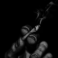 (hans jesus wurst) Tags: bw photoshop square hand cigarette smoke fingers grain nails lucisart rework bwconversion tonemapping canoneos400d tonalcontrast hansjesuswurst moritzhaase