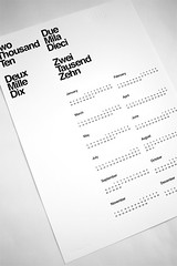 Limited Edition 2010 Letterpress Calendar (AisleOne) Tags: print poster calendar helvetica letterpress gridsystem internationaltypographicstyle