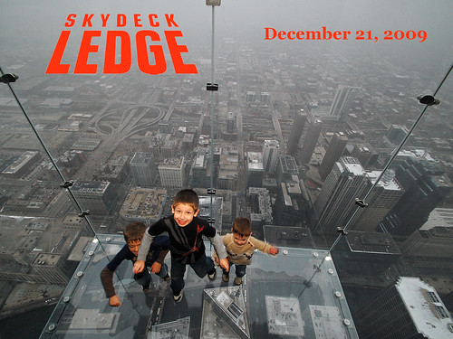 boys jumping off the Sears Tower