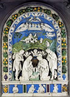 Andrea e Girolamo (?) della Robbia, Natività, 1513-1520. Bibbiena, San Lorenzo.jpg