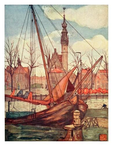 016-Una vista de Veere en la provincia de Zeeland-Holland (1904)- Nico Jungman