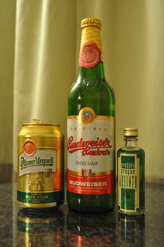 Classic Czech Beer and Absinth