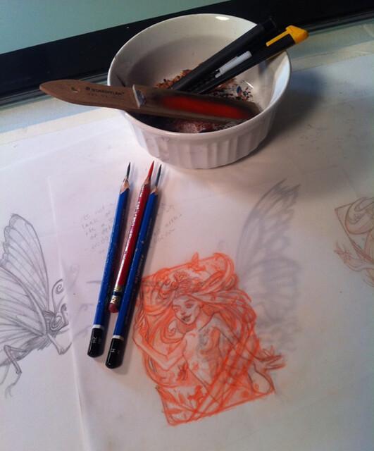 Lundman-pencils-sketching
