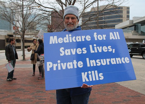 From flickr.com: 42a.SinglePayer.Protest.Baltim oreMD.11February2017 {MID-69850}