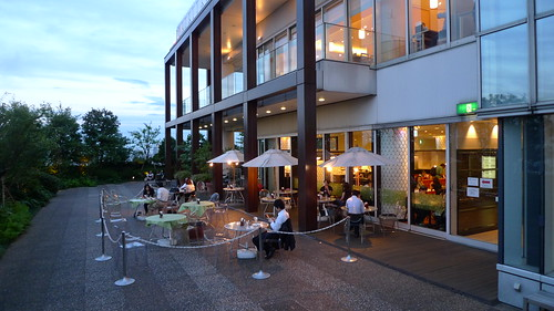 A cafe on the top of Takashimaya