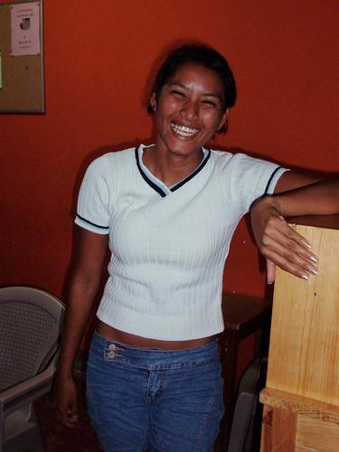 Laughing pretty woman - Mujer bonita riendo; Palacagüina, Madriz, Nicaragua